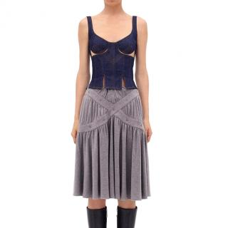 JW Anderson Stretch Denim Cut Out Bodice Top