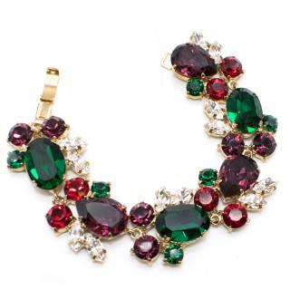 Bespoke Purple and Green Jewel Bracelet