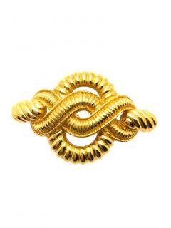 Christian Dior Gold Tone Brooch