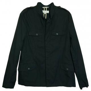 Rag & Bone New York Black Button-Front Field Shirt Jacket