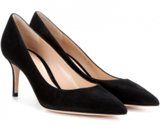 Gianvito Rossi Black Suede Pumps