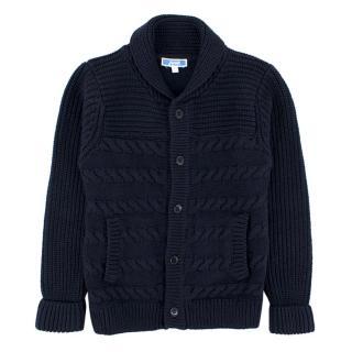 Jacadi Boys Navy Cable knit Cardigan