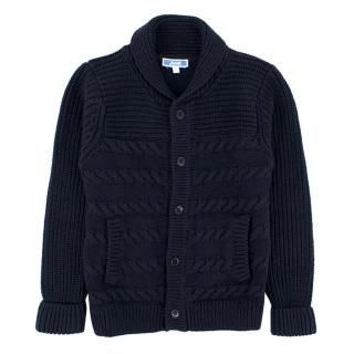 Jacadi Boys Navy Cable knit Cardigan
