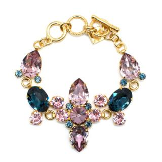 Otazu Pink and Blue 24 ct. Gold Plated Bracelet