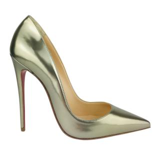 Christian Louboutin So Kate 120 Metallic Pumps