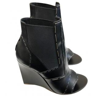 Balenciaga wedge peep toe booties