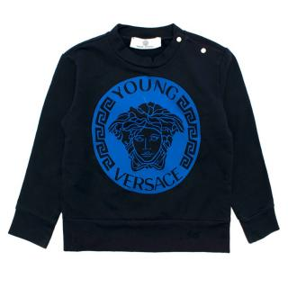 Young Versace Navy Blue Boys Jumper