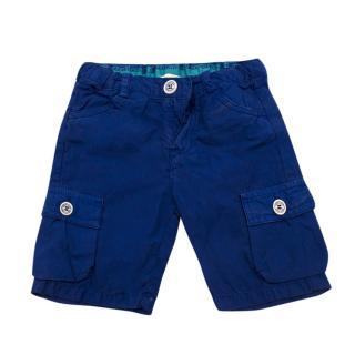 Roberto Cavalli Boys Blue Cargo Shorts
