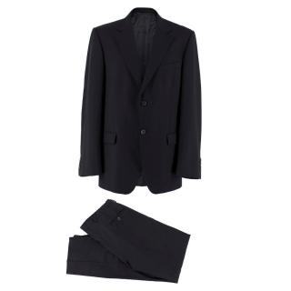 Gucci single-breasted black wool suit