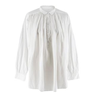 Nili Lotan gathered-cotton peasant shirt