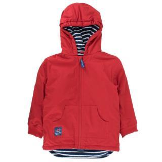 JoJo Maman Bebe reversible fleece-lined rain coat