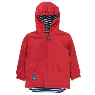 JoJo Maman Bebe reversible fleece-lined rain coat