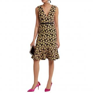Saloni Tracy Floral-Embroidered Dress