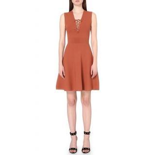 Sandro Rikka Lace-detail Stretch-knit Dress