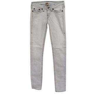 True Religion grey skinny jeans