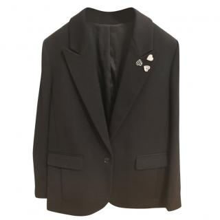 The Kooplers black wool blend blazer