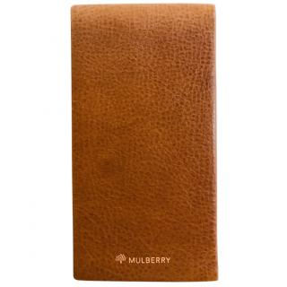 Mulberry Tan Leather Address Book
