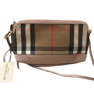 Burberry Pink Nova Check Crossbody Bag