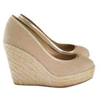 Jimmy Choo Raffia Wedges