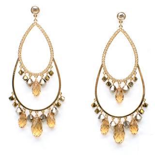 Swarovski crystal-drop earrings