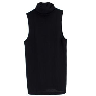 Bespoke Sleeveless High Neck Knit Top