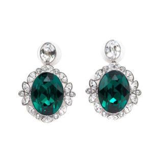 Swarovski crystal-encrusted earrings