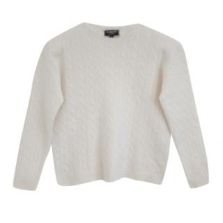 Harrods Of London Cropped Cashmere Jumper