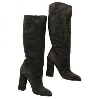 Dolce & Gabbana Suede Knee High Boots