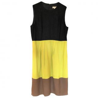 Michael Kors Collection colourblock sleeveless dress