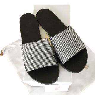 Ancient Greek sandals gingham sandals