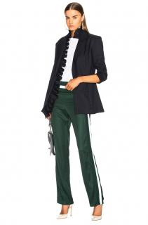 Maggie Marilyn green striped-side relaxed track pants