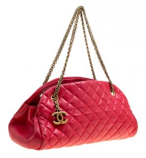 Chanel Red Quilted Leather Medium Just Mademoiselle Bag