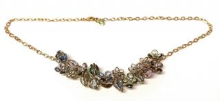 Gripoix Paris Floral Necklace