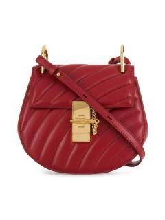 Chloe Drew Bijou small red leather cross-body bag