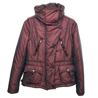 Burberry Burgundy Padded Jacket