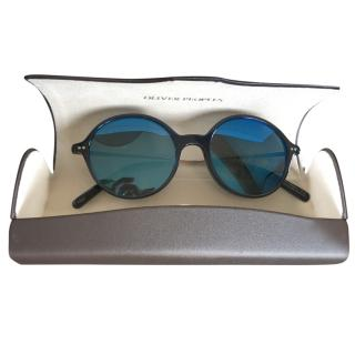 Oliver Peoplesnavy/black round frame sunglasses