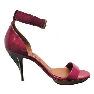 Lanvin pink patent leather sandals