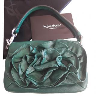 Yves Saint Laurent ruffle-flap leather shoulder bag