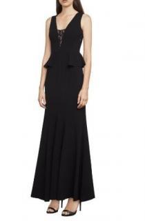 BCBG Max Azria Silvia Sleeveless Peplum Gown