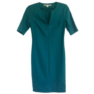 Diane von Furstenberg turquoise wool dress