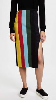 DVF  striped MIDI skirt