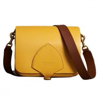 Burberry Leather Square Satchel - Large Yellow