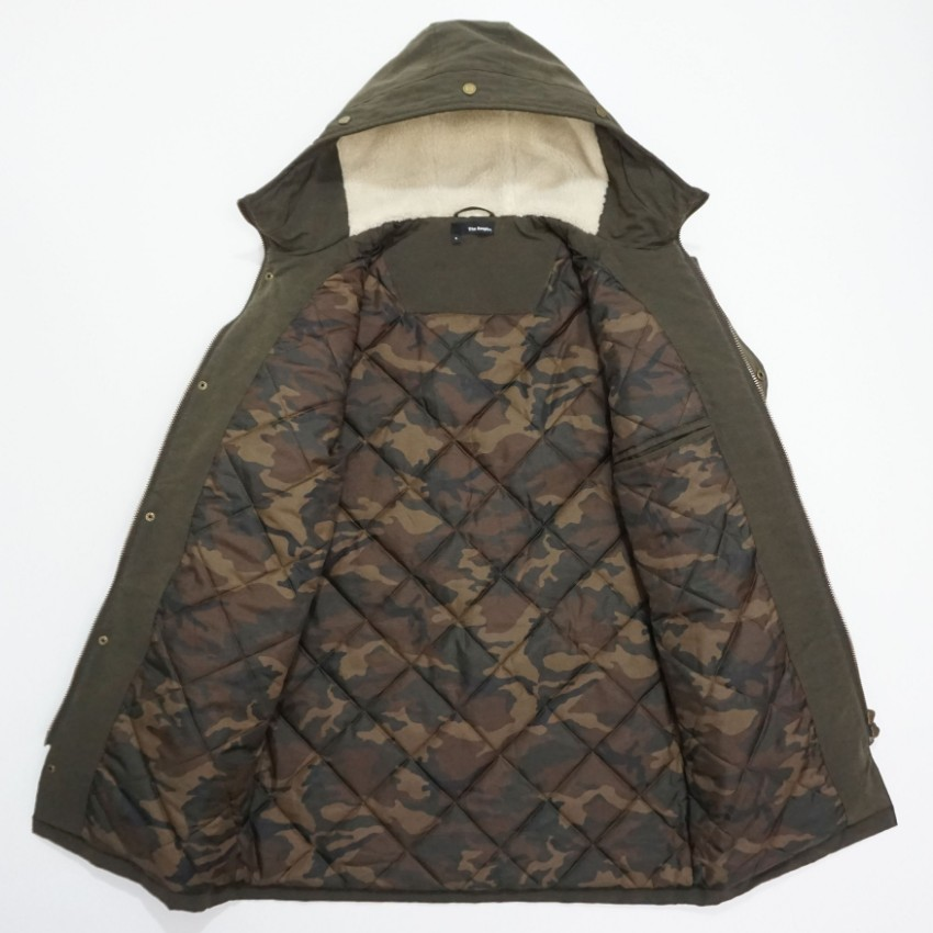 46a9318402 The Kooples Mens Brown Quilted Hooded Parka Jacket Coat. 22. 12345678