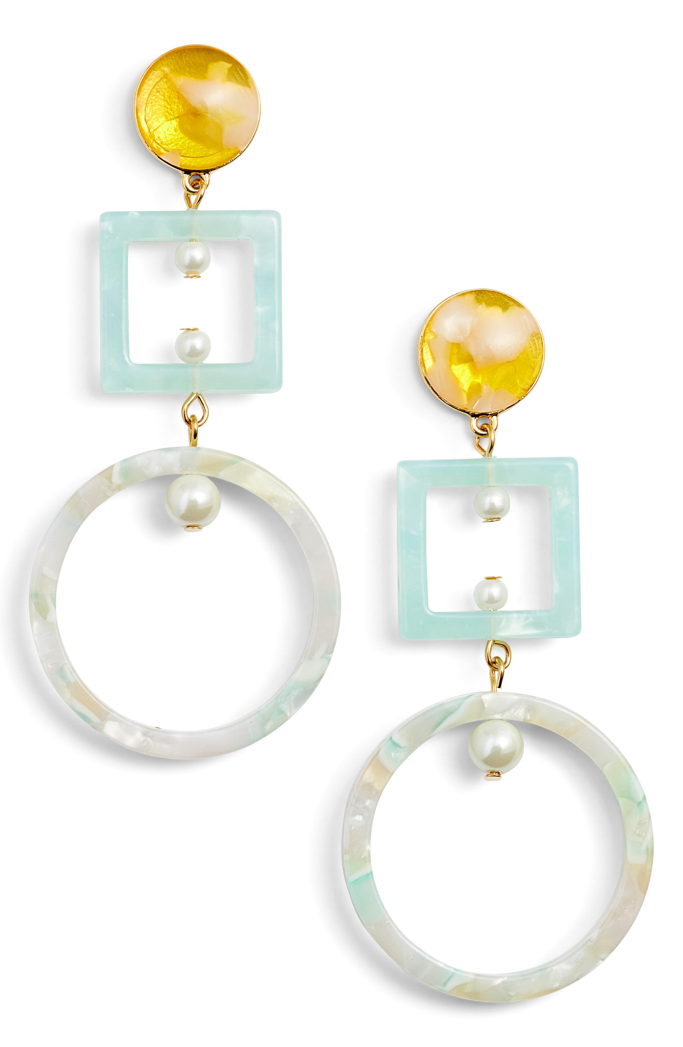 Lele Sadoughi Cage Imitation Pearl Drop Earrings