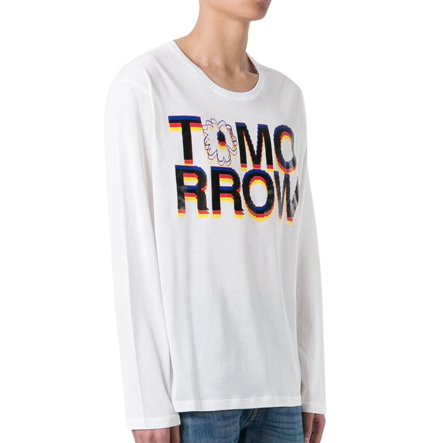 Stella McCartney White Tomorrow Print Long T-Shirt