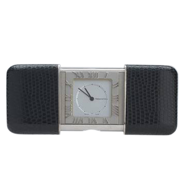 Tiffany & Co. Leather-Encased Travel Clock
