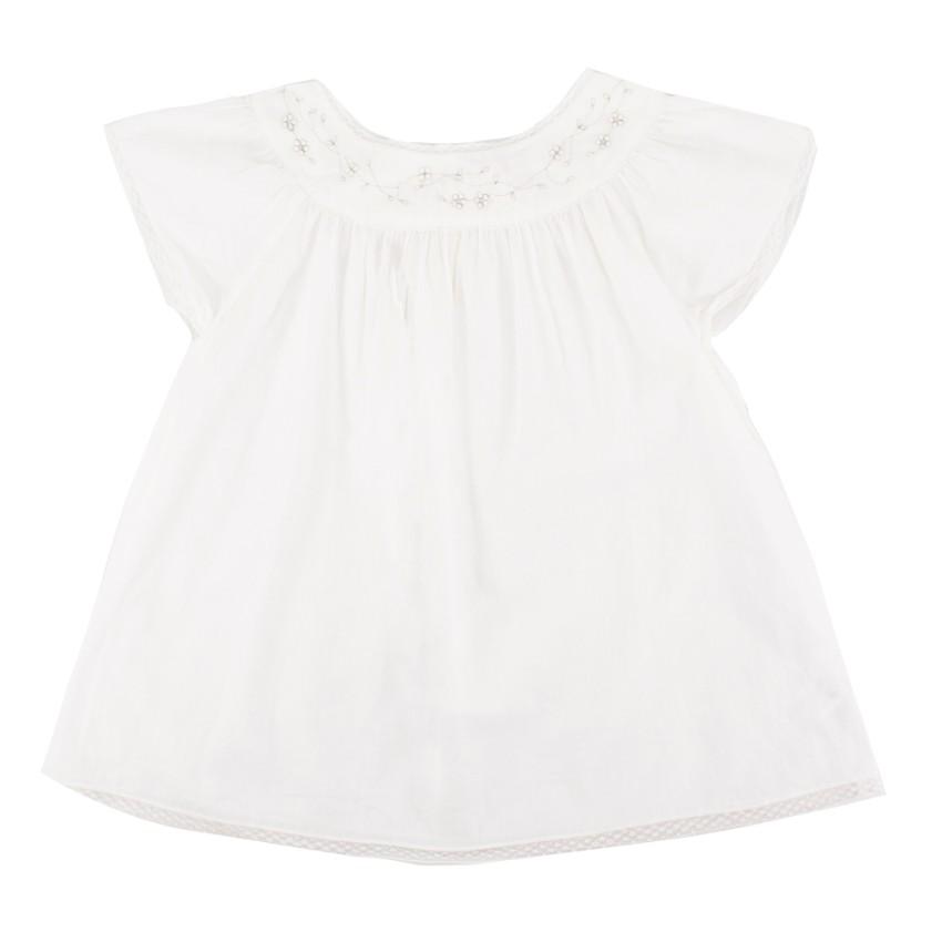 Bonpoint Girls White Dress
