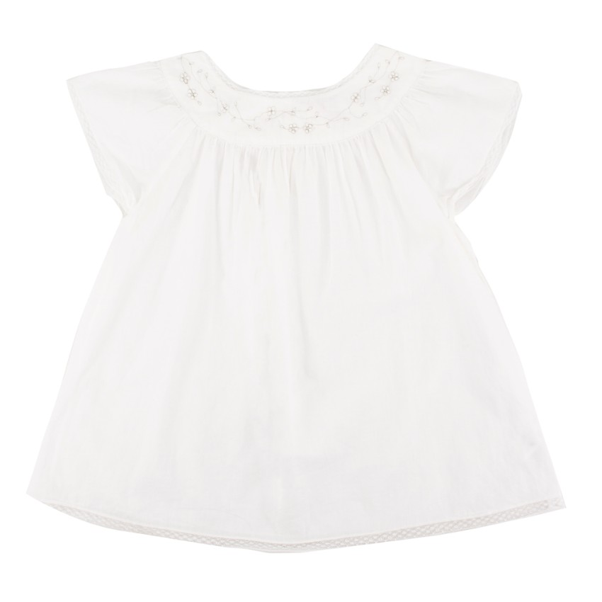 Bonpoint Girls White Dress