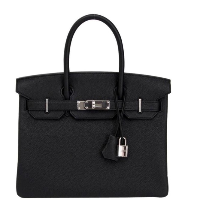 Hermes Black Togo Leather 30cm Birkin Bag