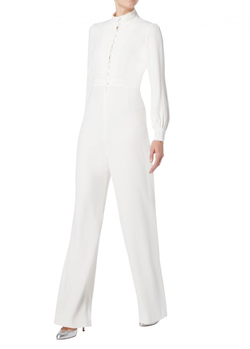 Goat Forte All-in-One Cream Wide-leg Jumpsuit